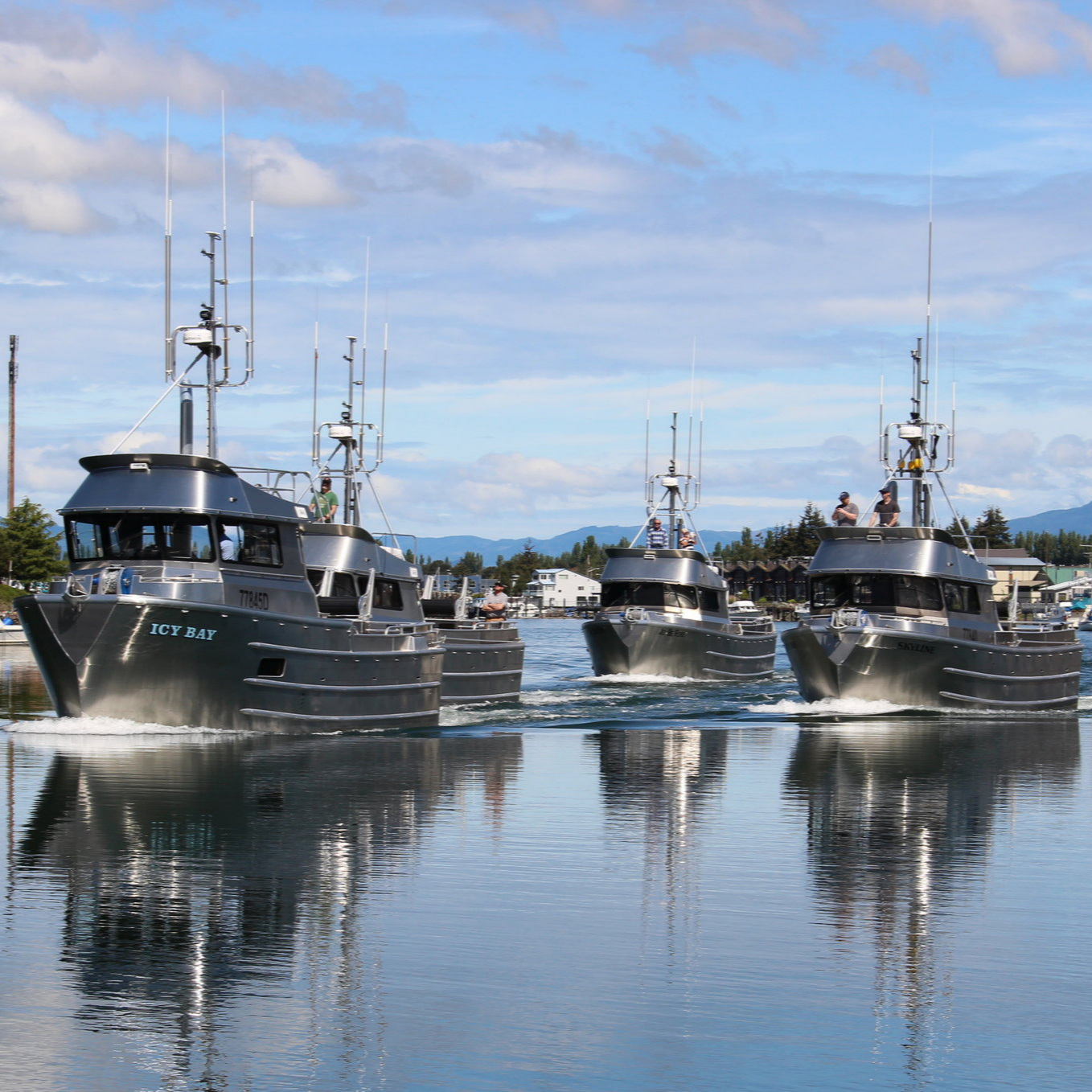 Brand new Bristol Bay boats built by Mavrik Marine - each one is outfitted with an IMS RSW system.