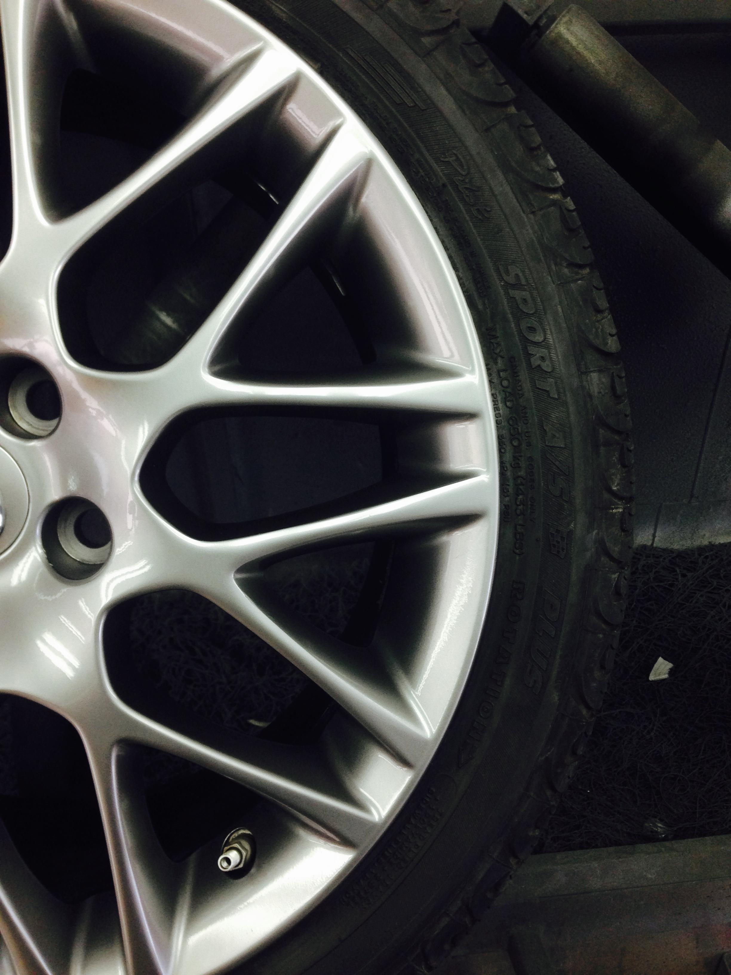 Curb rash after wheel repair & painting