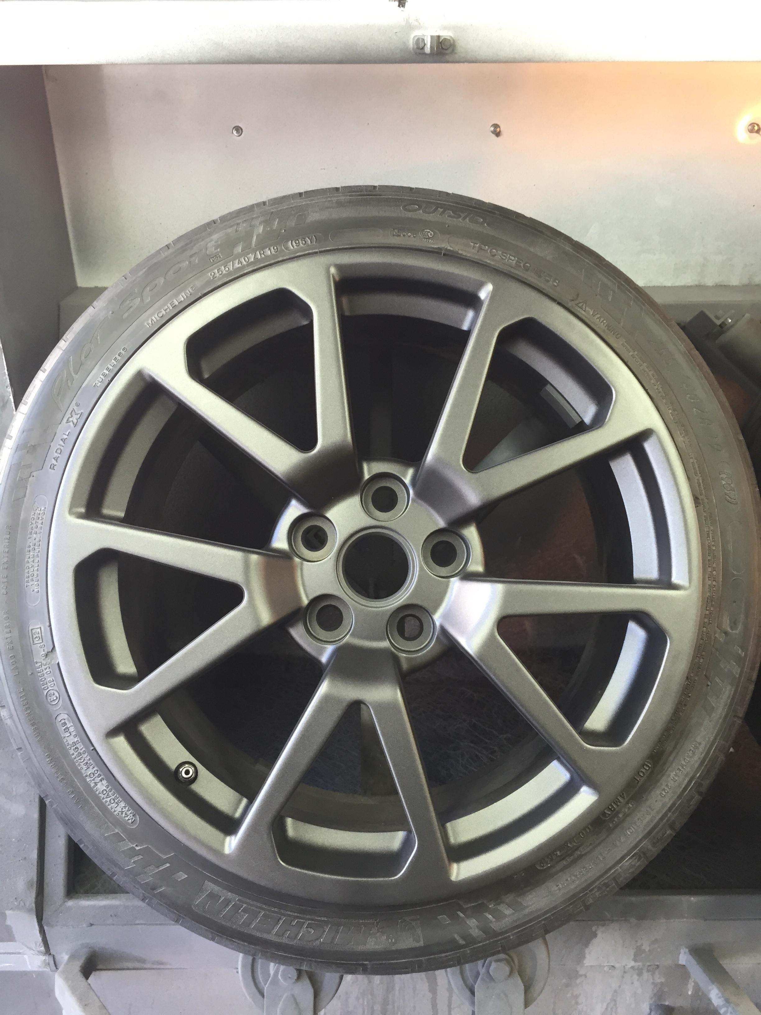 Hyper Silver dark matte wheel paint