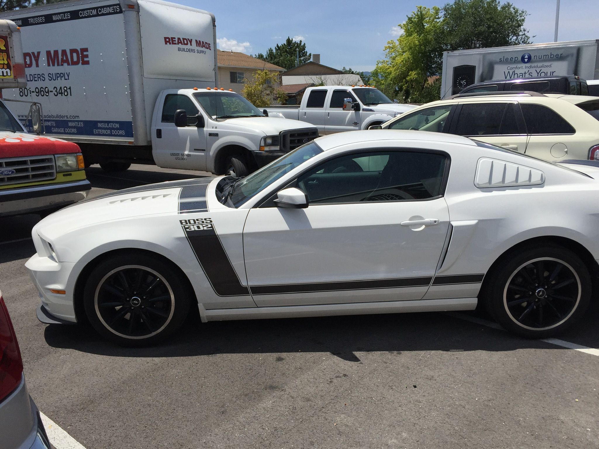 Ford Mustang Boss 302 After Wheel Painting