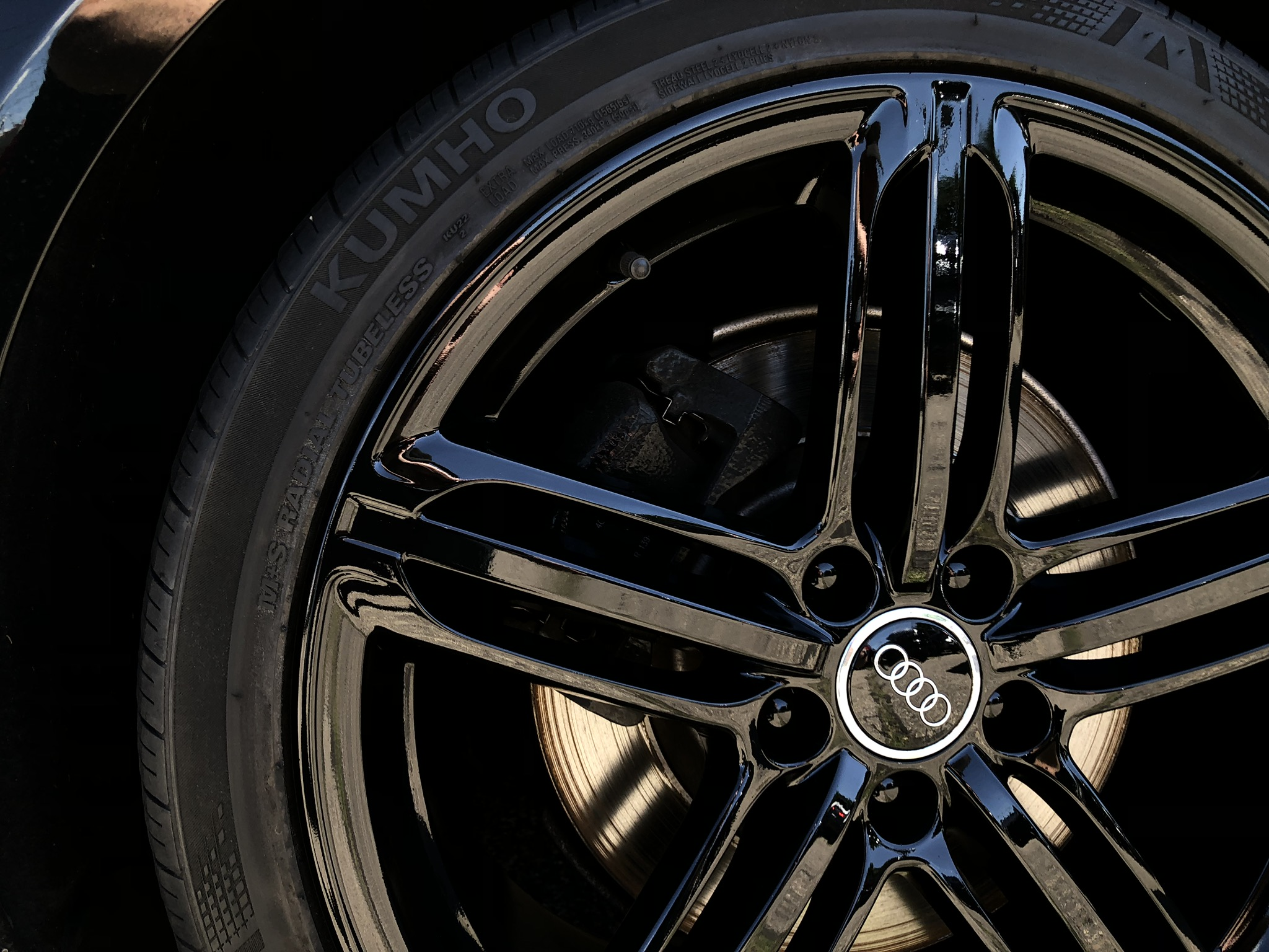 Audi S4 custom wheel paint finish