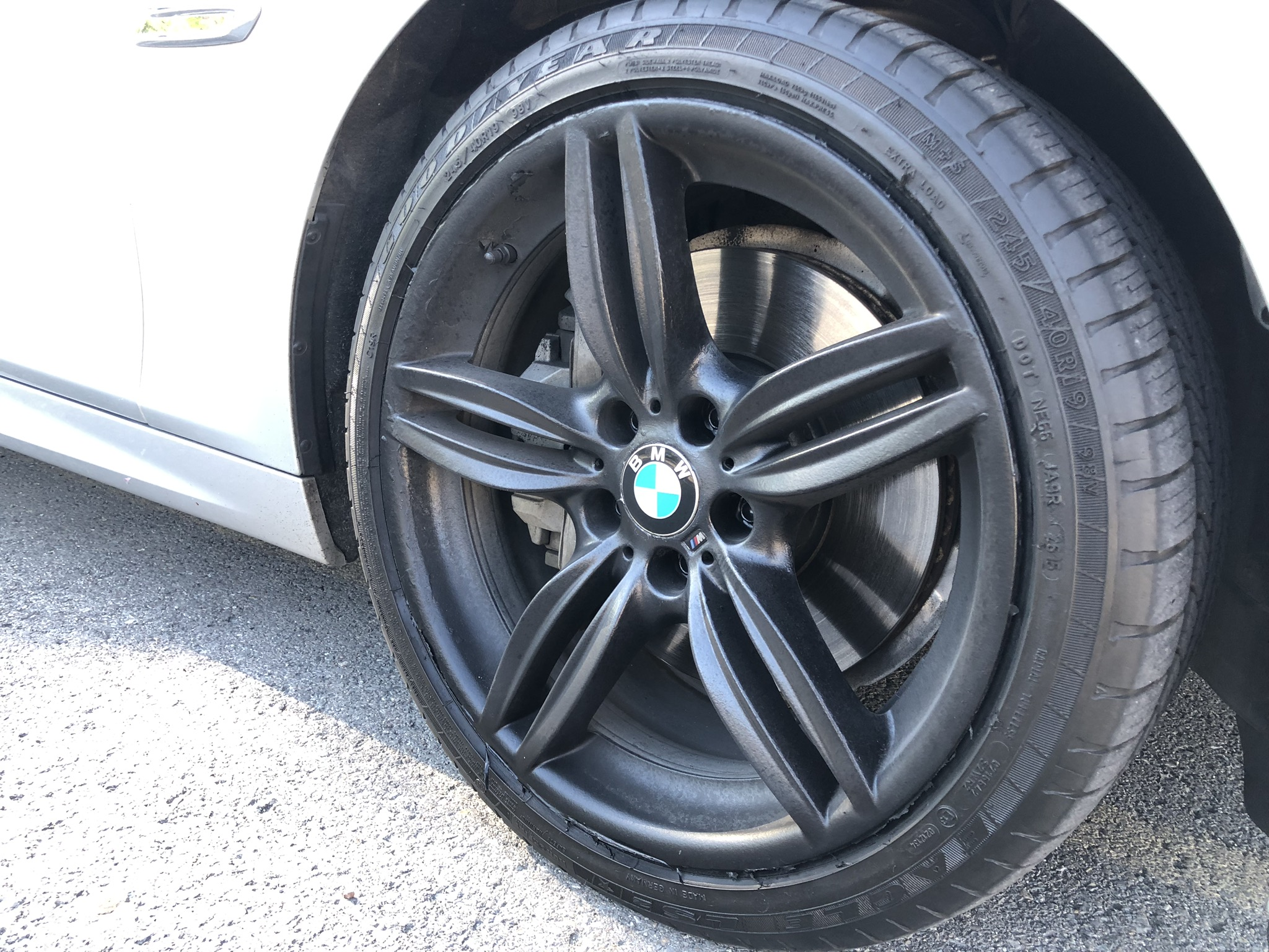 BMW 5 series after plastidip removal & gloss black paint