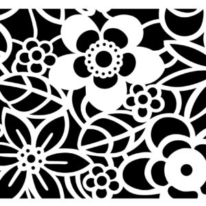 NCS-150 Graphic Flowers Ca. 24x36 cm