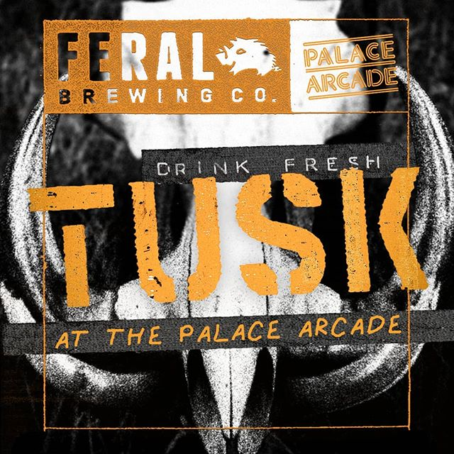 You heard right. We are letting @feralbrewing takeover our taps for the day and give the people what they want... TUSK.  Saturday 26th October 2019  Tapping at 11.59am and drinking from 12noon. You will want to get down early to make sure you will get one down the hatch.  We will be pouring the liquid gold till she runs dry. Will also have War Hog and some Feral Favs in support to the king of Beer, TUSK.  Line the gut for some more Tusk with our food specials below!  Food Specials $5 Slices of Bratwurst Blitz $12 East Coast Wings (Buffallo, Honey & Garlic and BBQ) $12 Southern Fried Chicken *Specials 12noon till 5pm  Group Bookings contact@thepalacearcade.com.au 84 Beaufort Street, Northbridge  #tuskday2019 #feralbrewing #arcadepalace #thepalacearcade #perthisok #thisisperth