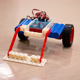 """This is the """"Zamboni Edition"""" of the robot."""