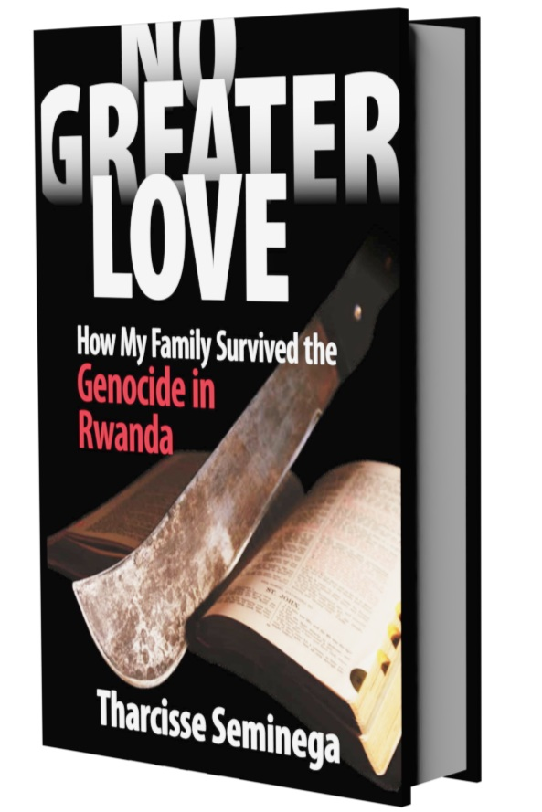 No Greater Love:How my Family survived the genocide in Rwanda - Marked for slaughter, Dr. Tharcisse Seminega, a Tutsi professor at the National University of Rwanda in Butare, along with his wife and their five children, evaded the machete's fury during the Genocide against the Tutsi in Rwanda. Their gripping story of terror and rescue spans the range of human behaviour, from unbridled cruelty to heroic courage. In heartbreaking detail, the author describes Rwandan society's headlong descent into genocide. Vivid descriptions of the social and political developments in Rwanda are authenticated by an extensive appendix of personal accounts and key historical documents.