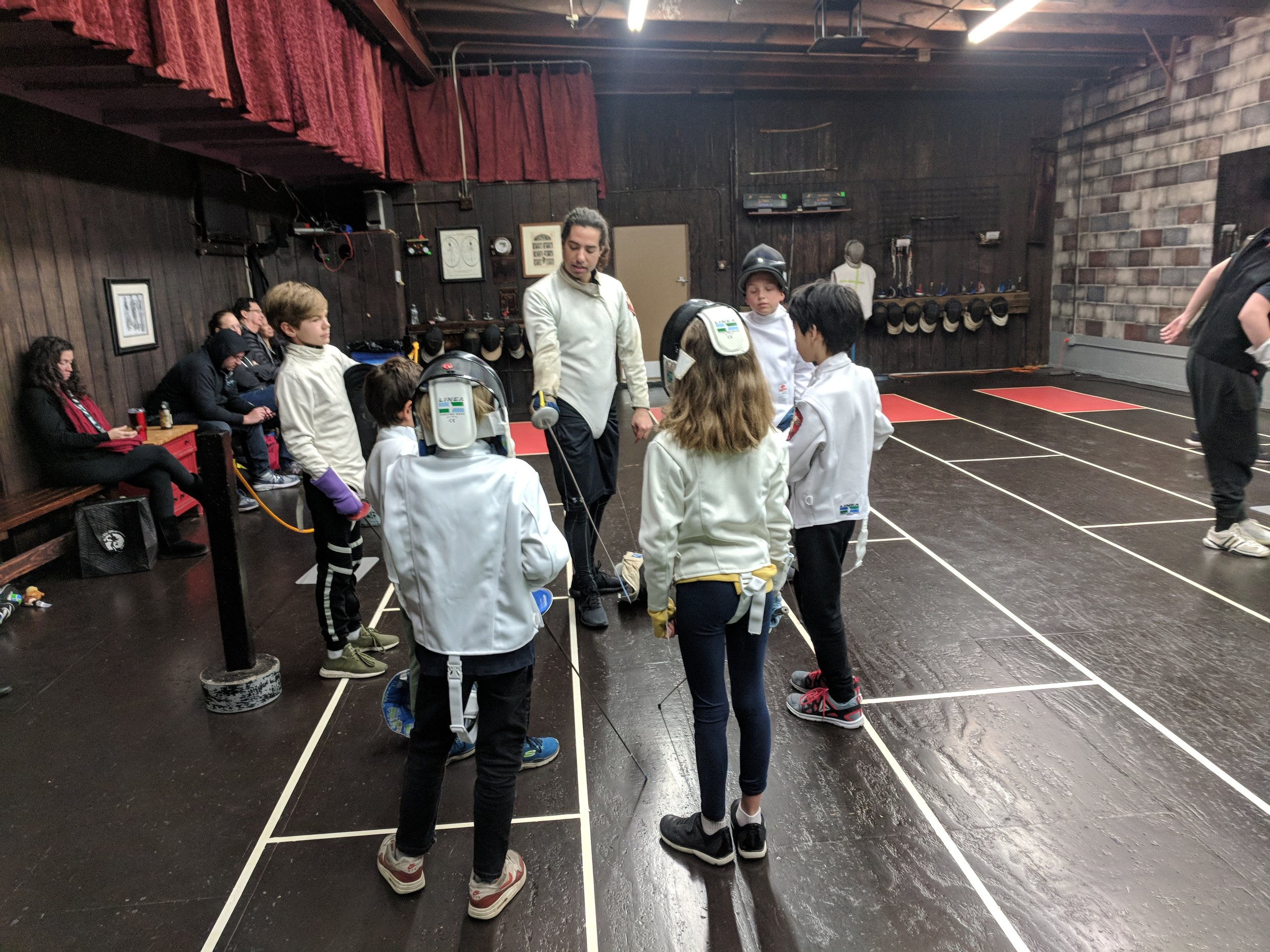 Fencing training at Swordplay LA