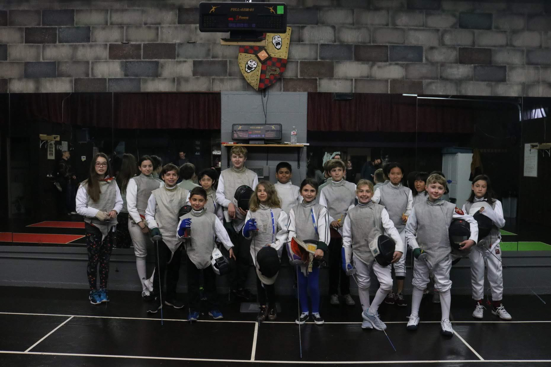 1st Quarterly Fencing Tournament Group Photo