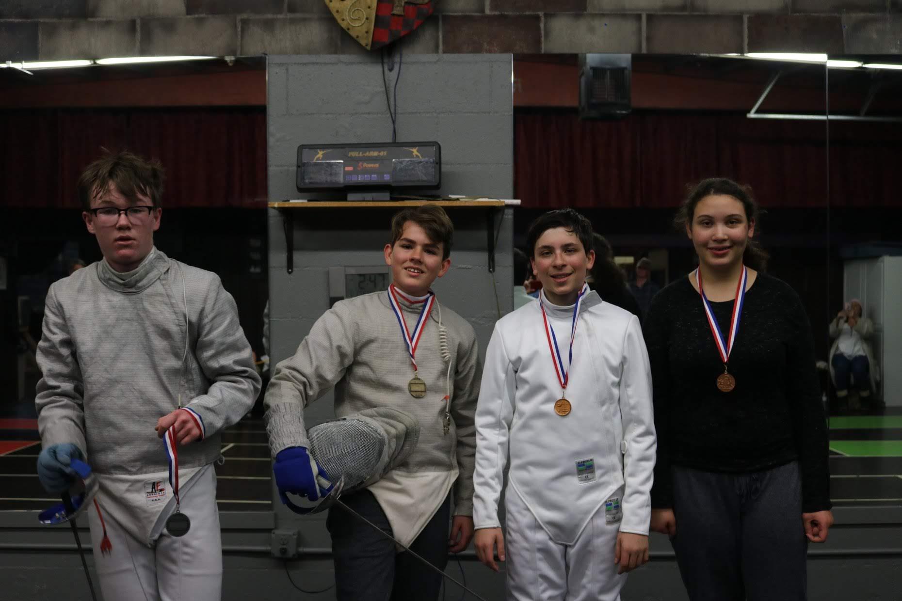 1st Quarterly Fencing Tournament, Kids Sabre Winners