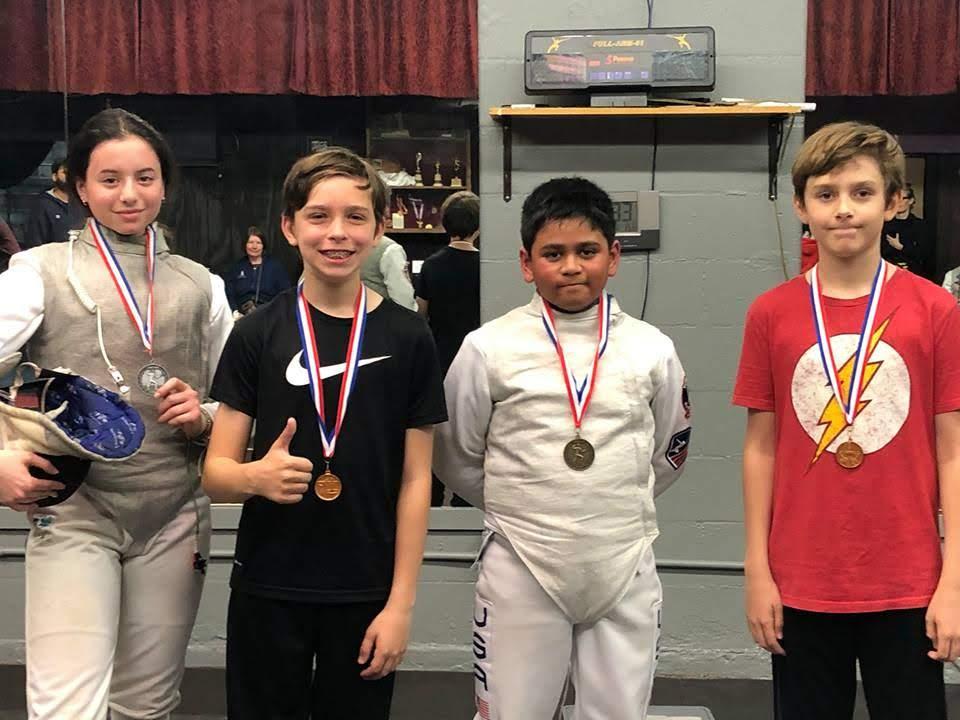 1st Quarterly Fencing Tournament, Kids Foil Winners