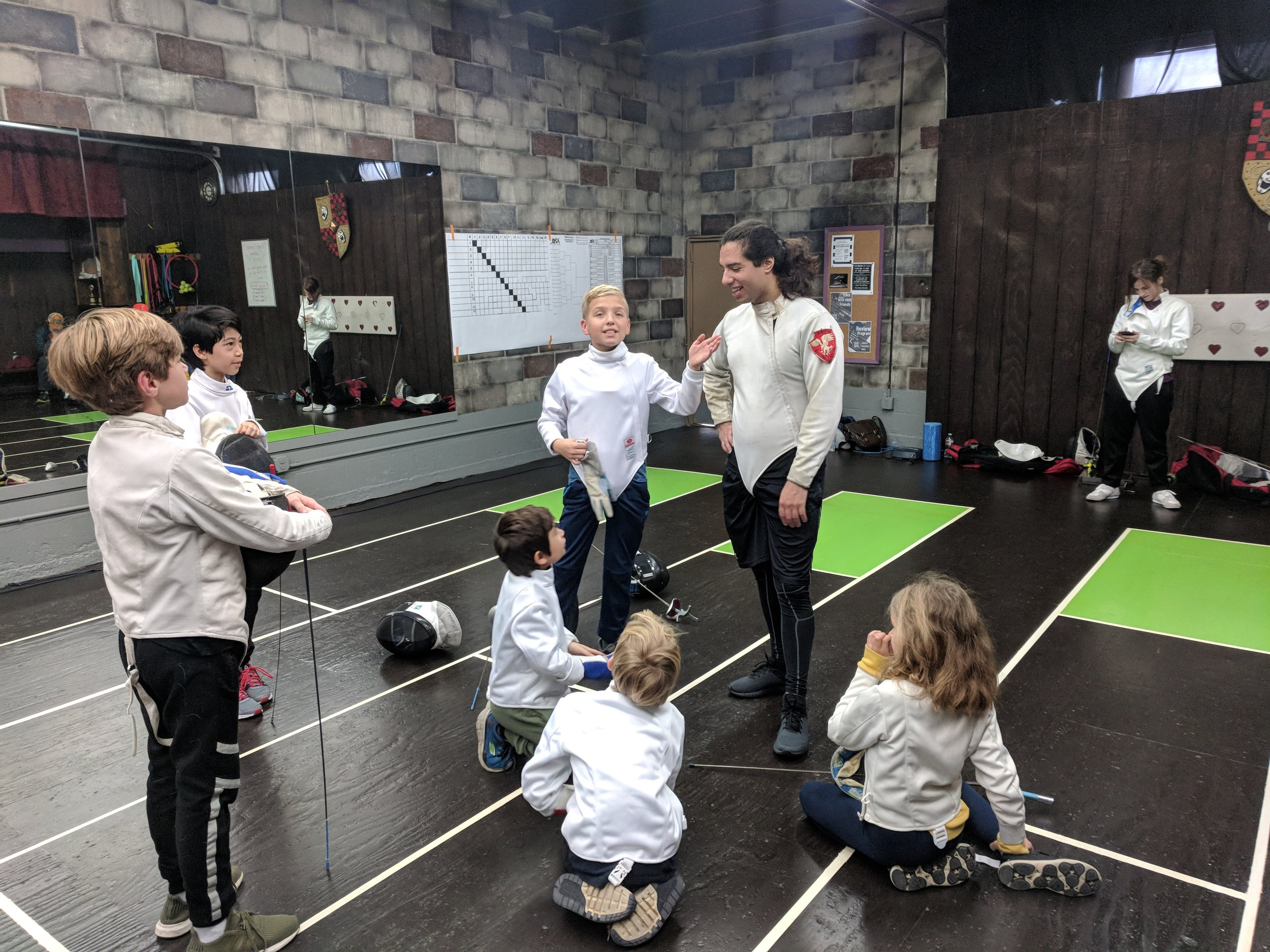 Group Fencing Class for Kids