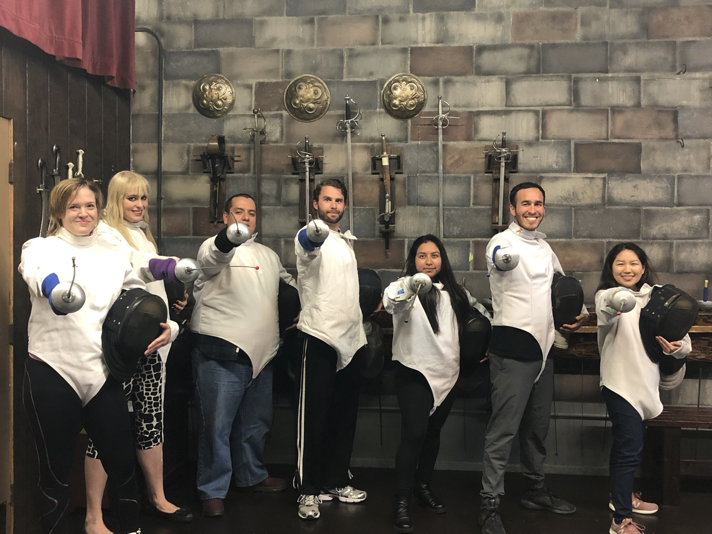 Fencing training at Swordplay LA is the perfect team building activity.