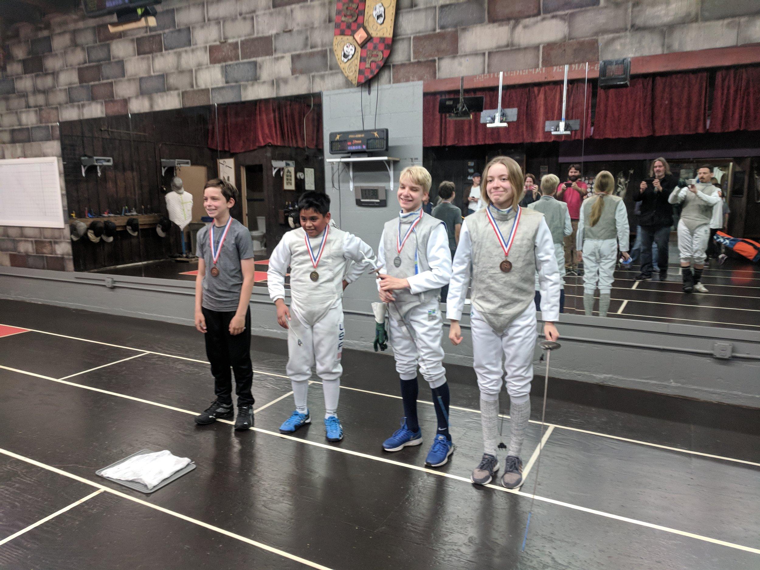 2nd Quarterly Tournament, Kids Foil Winners