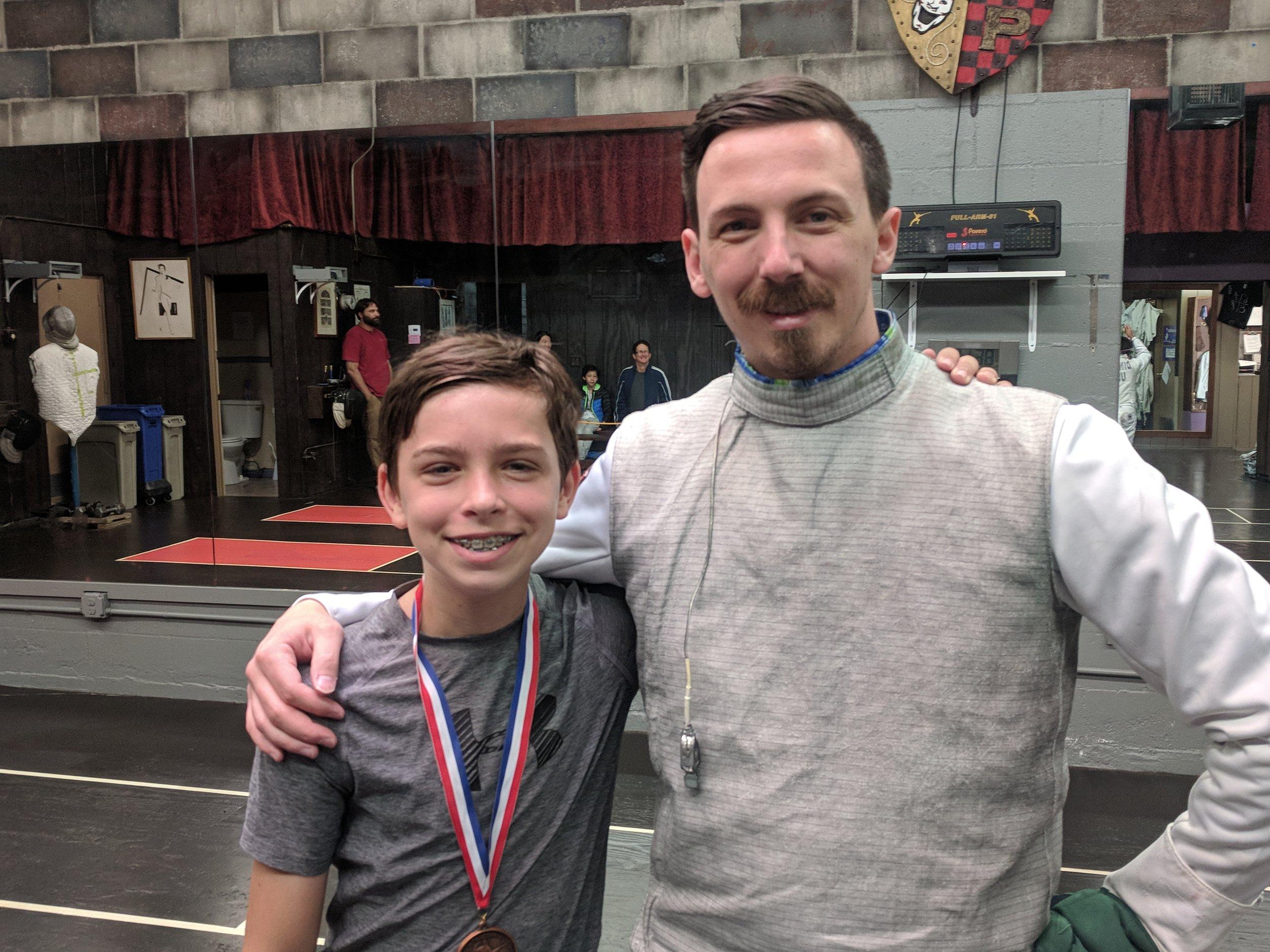 Ryan and Student, Swordplay LA