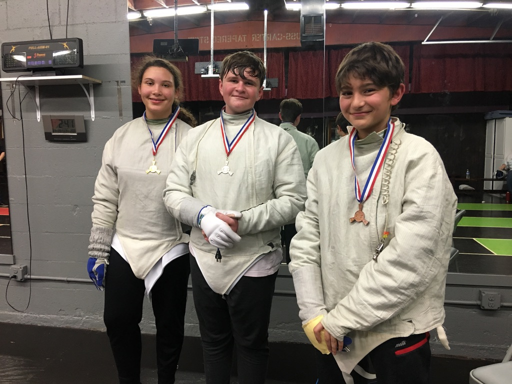 2nd Quarterly Fencing Tournament, Kids Sabre Winners