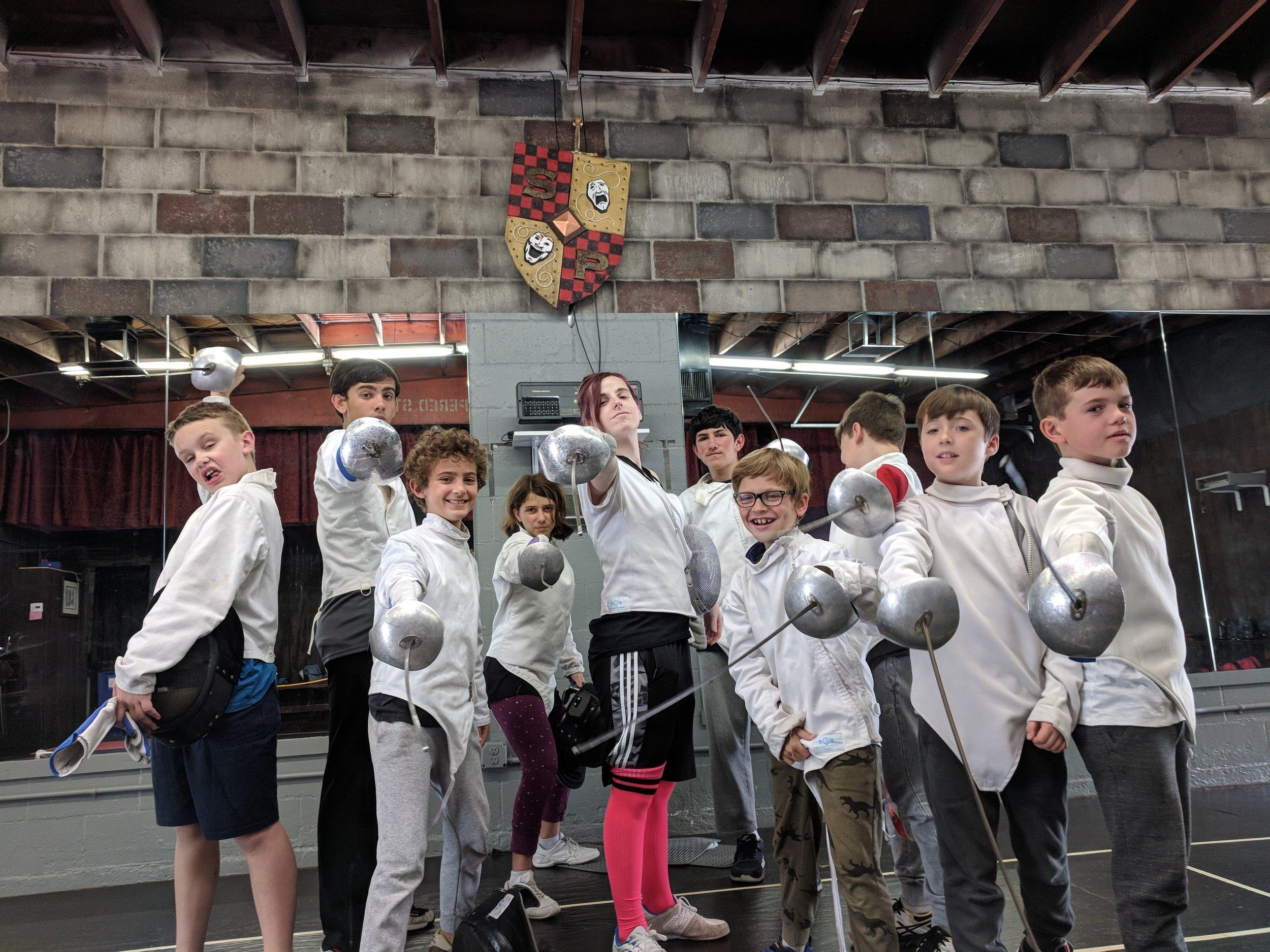 Swordplay LA Kids Sabre Camp 1