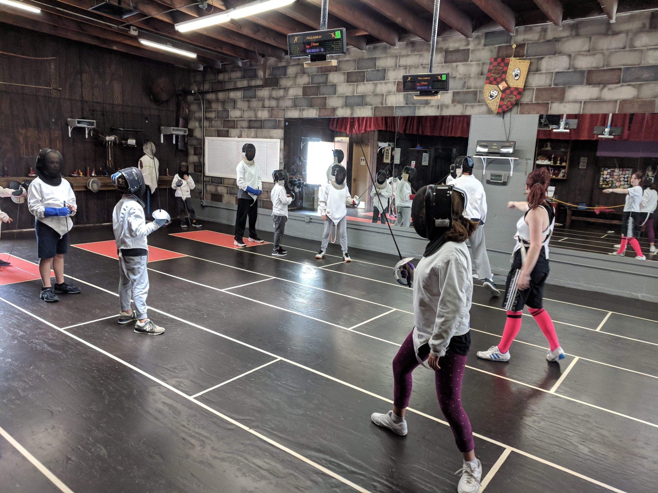 Swordplay LA Kids Sabre Camp 2