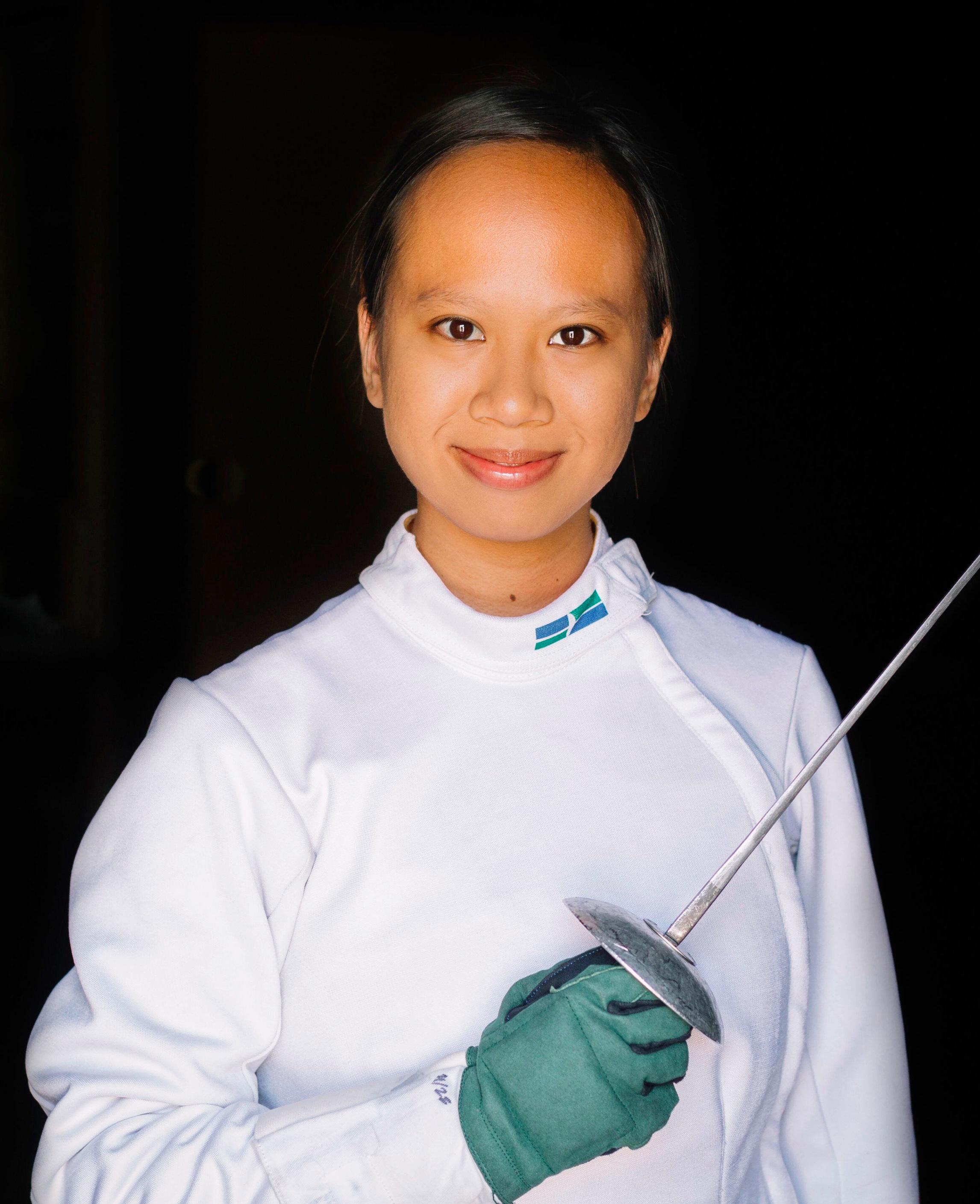 Swordplay LA fencing coach, Laelia Nguyen