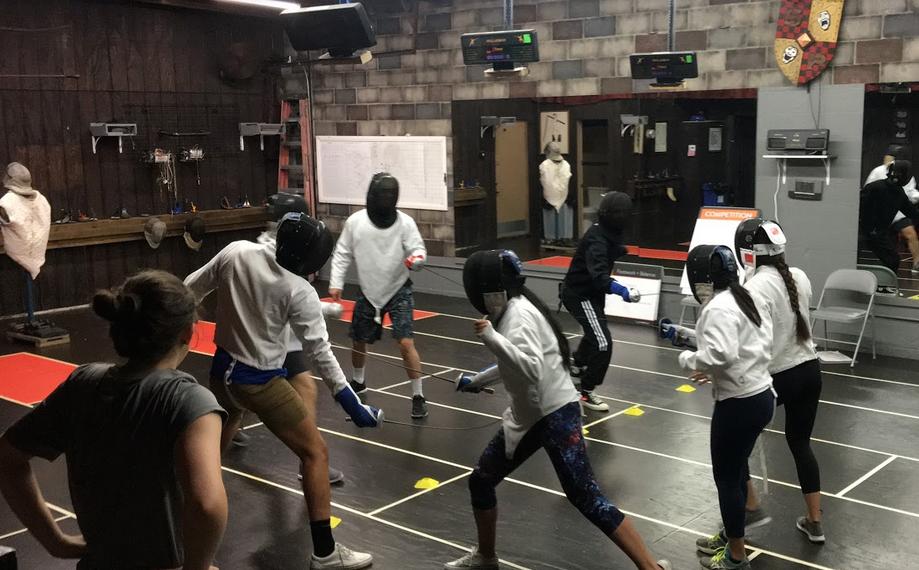 Team building game at Swordplay LA fencing school