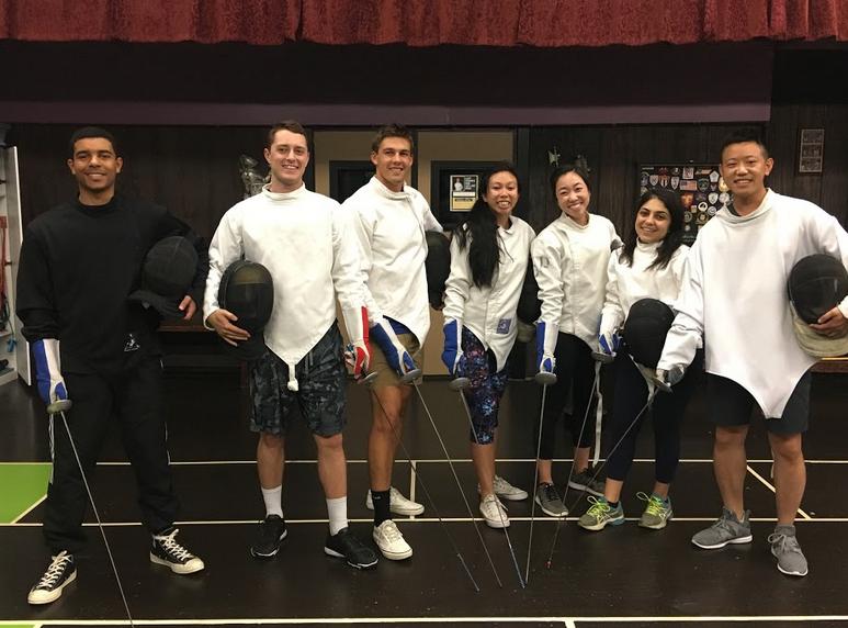 Accenture employees at Swordplay LA fencing school