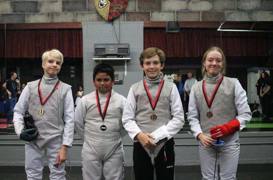 Swordplay LA in house tournament winners
