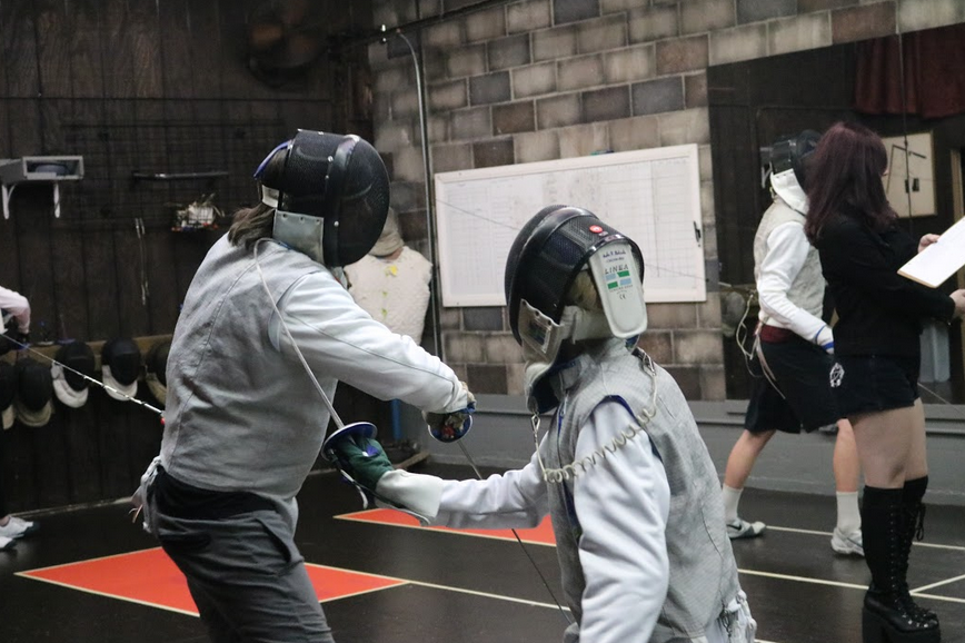 Funny fencing touches