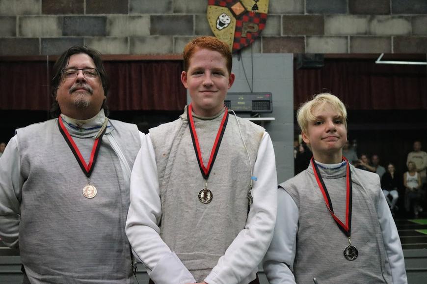 Swordplay LA in-house tournament medalists
