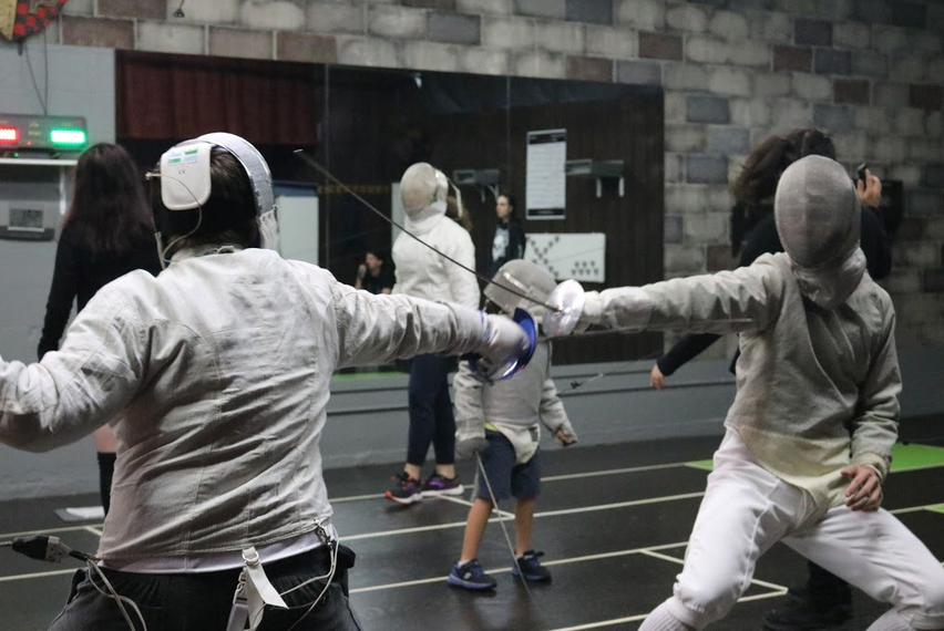 Sabre fencing tournament at Swordplay LA fencing school