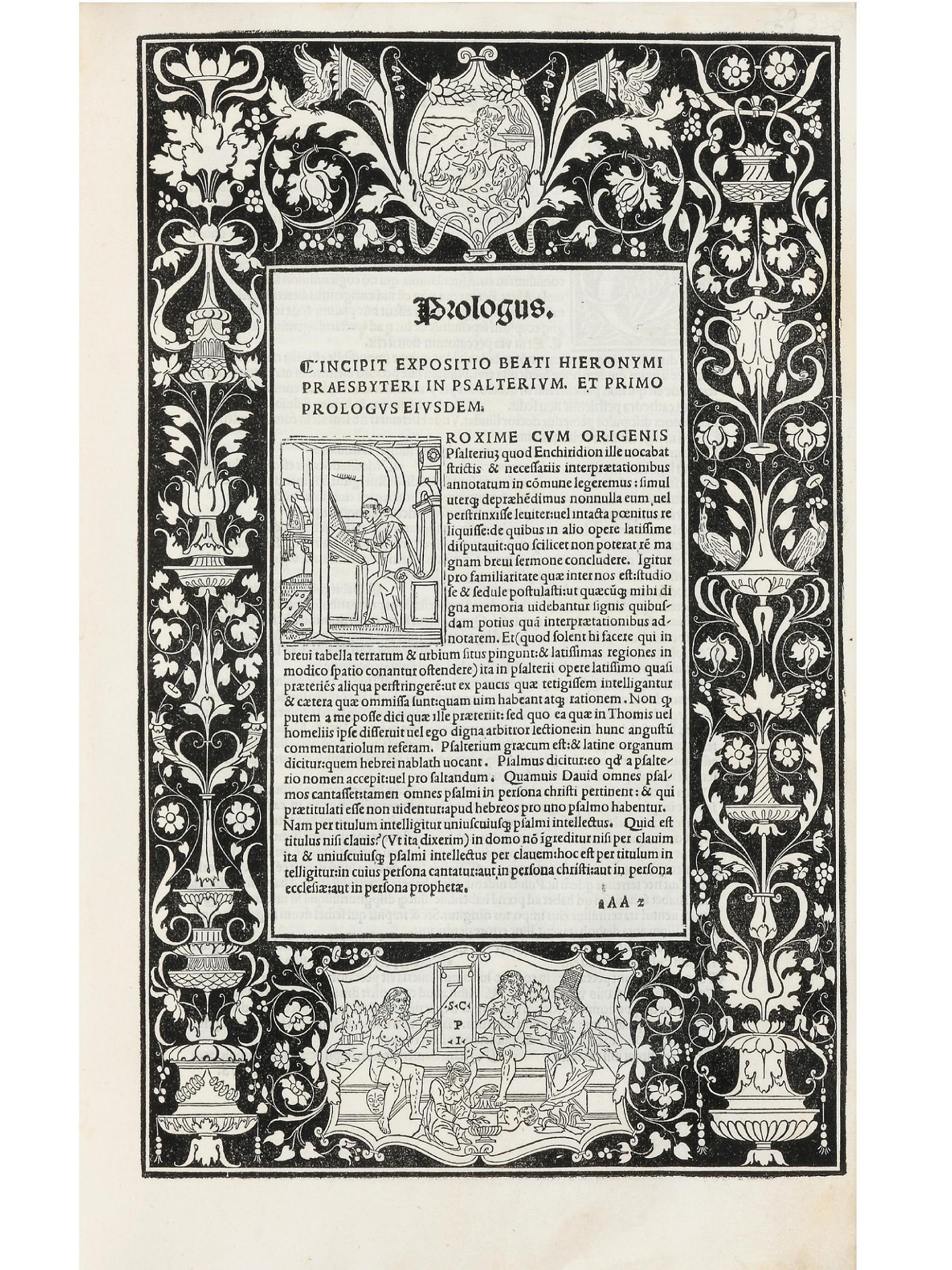Hieronymus, Sophronius Eusebius (347-420).  Commentaria in Bibliam. Ed: Bernardinus Gadolus . Venice, Johannes and Gregorius de Gregoriis, de Forlivio, 1497 - 25 August 1498.