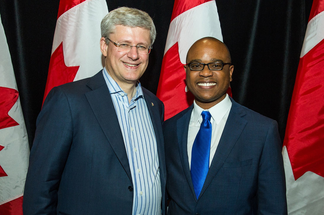 Chris Allen meets with the Prime Minister of Canada, Stephen Harper and joins federal cabinet ministers at their annual event in the Toronto area.