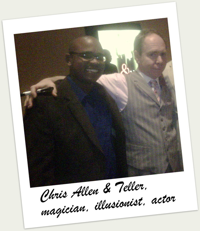 "Chris Allen with Teller, one half of the Las Vegas comedy magic duo Pen & Teller as recently featured on the thirteenth season NBCs Hit TV Show the Apprentice with Donald Trump. ""A well run business can often seem like a Vegas style magic trick, everyone wants to know what's up your sleeve next."" says Allen."