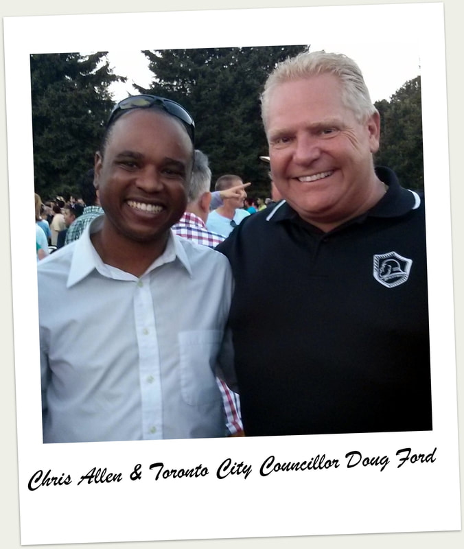 Chris Allen and Toronto City Councillor Doug Ford Jr. at a local BBQ co-hosted by Chris Allen.