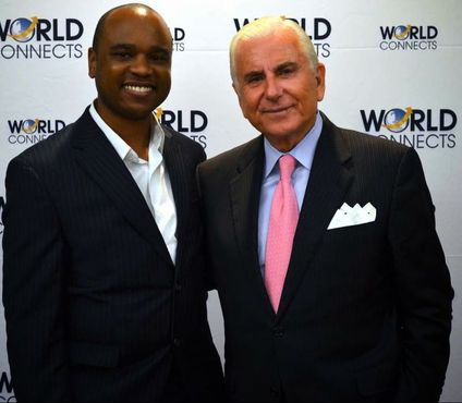 "Chris Allen and one of the world's most successful businessmen Nido Qubein at the launch party of Allen's new book ""The Book on Toronto Real Estate"". Nido Qubein is on the board of Lazy Boy, BB&T Bank, and DOTS. He is President of High Point University, chairman of Great Harvest Bread company and one of the most transformational business leaders."
