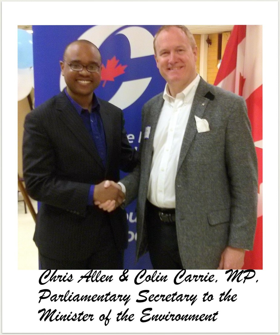 Chris Allen with his guest Colin Carrie, Parlimentary Secretary to the Minister of the Enviroment.