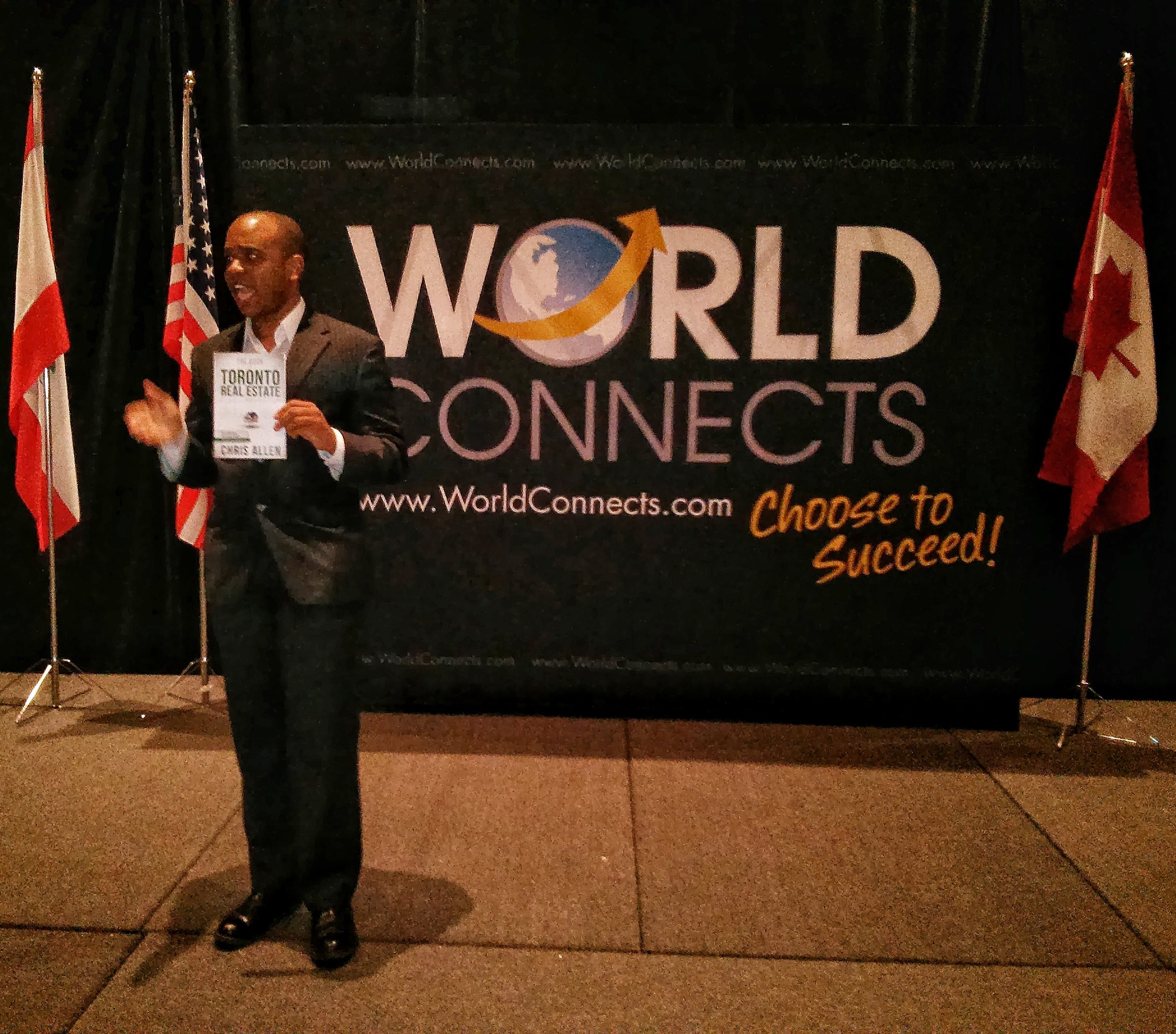 Allen presenting at World Connects Summit