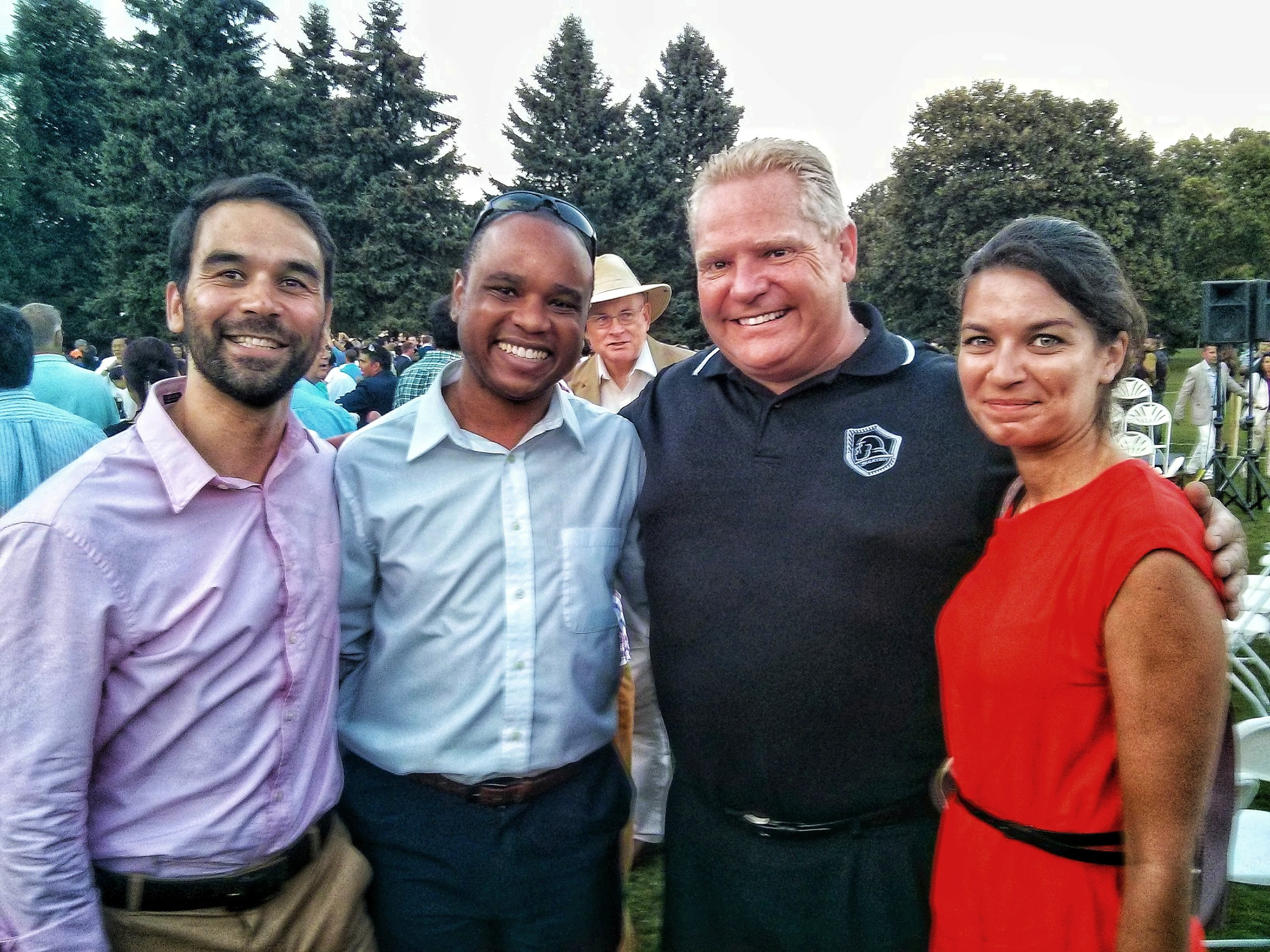 Chris A. Allen hosting clients and Premier of Ontario, Doug Ford.