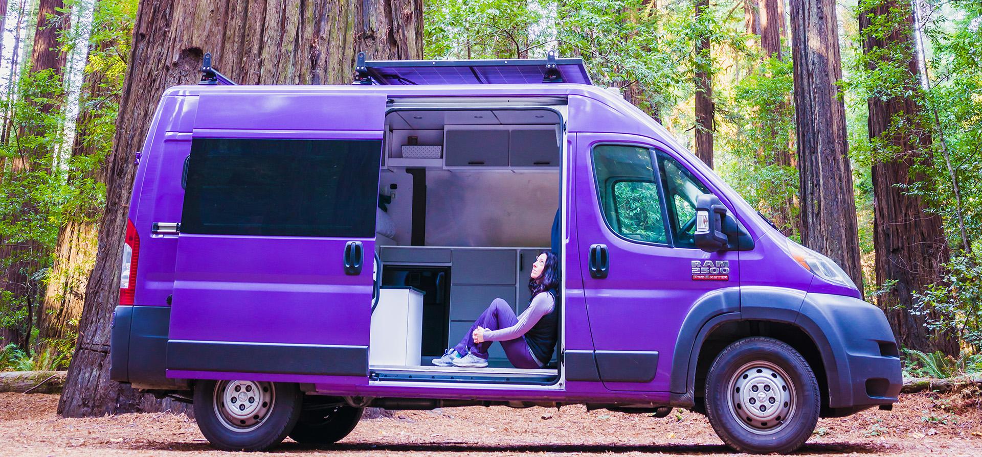 Alaina Ann in a Van