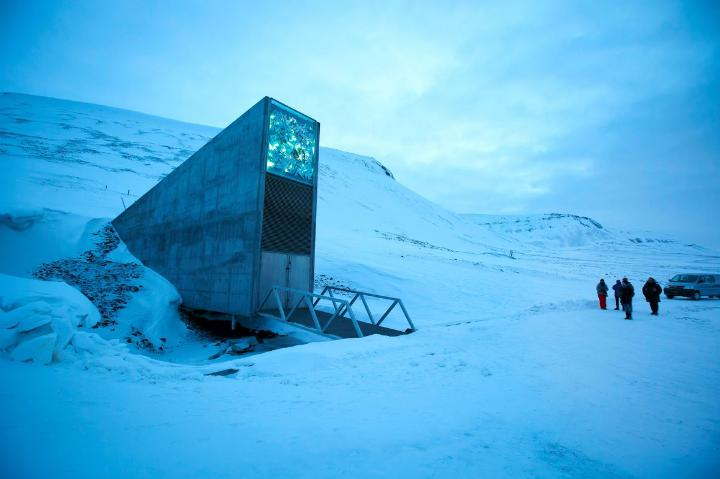 PICTURED:  The Svalbard Global Seed Vault inside the Arctic Circle in Norway.