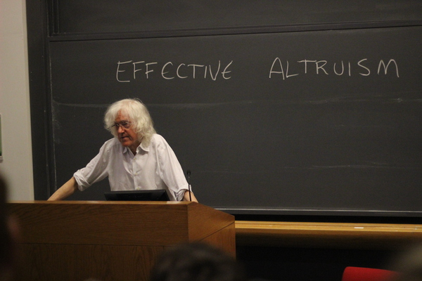 April 21st 2015:  Derek Parfit (1942 - 2017) the English Philosopher delivers a lecture at Harvard University 2 years before his death.