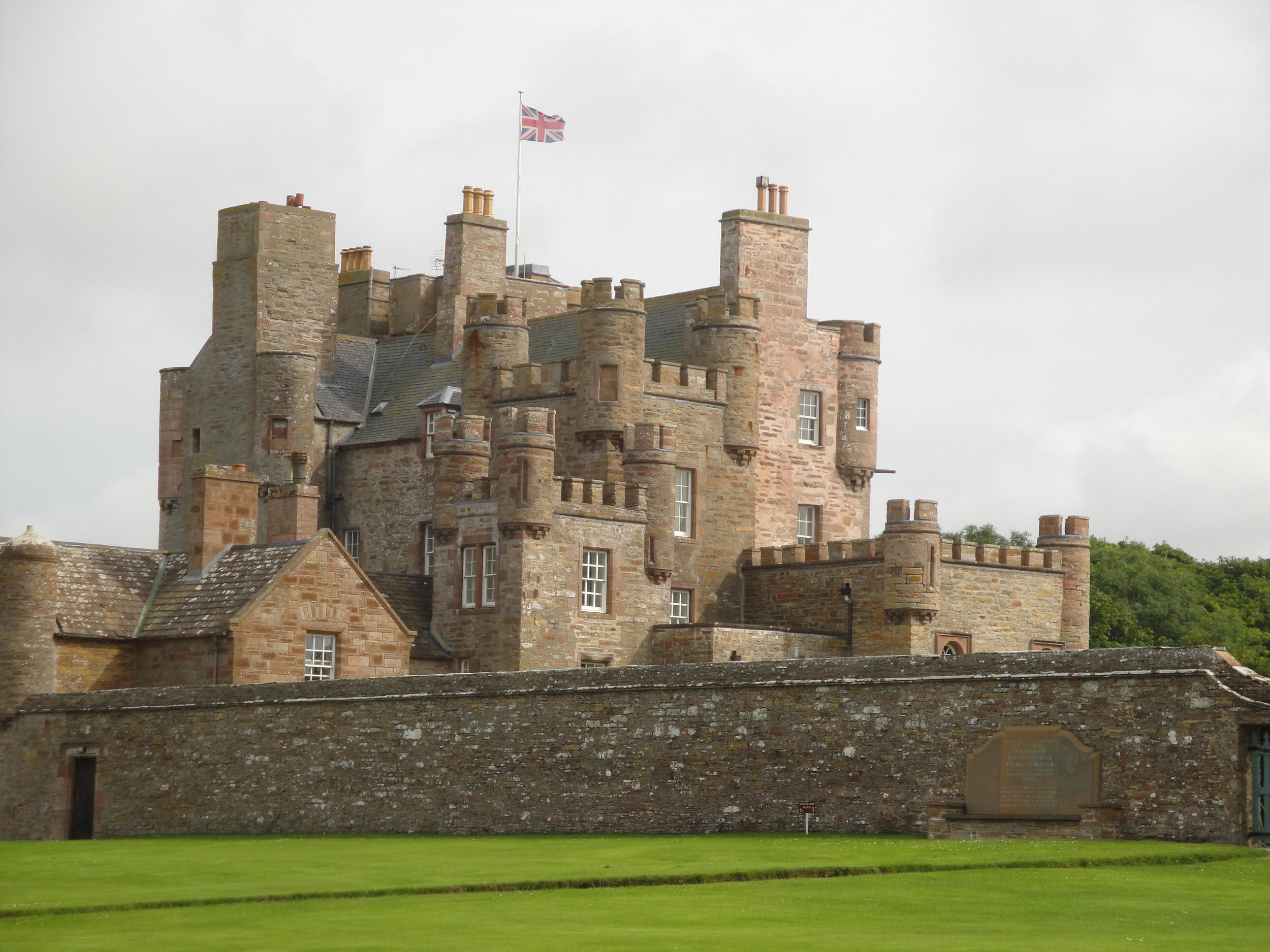 PICTURED:  The Castle of Mey's curtain wall and keep