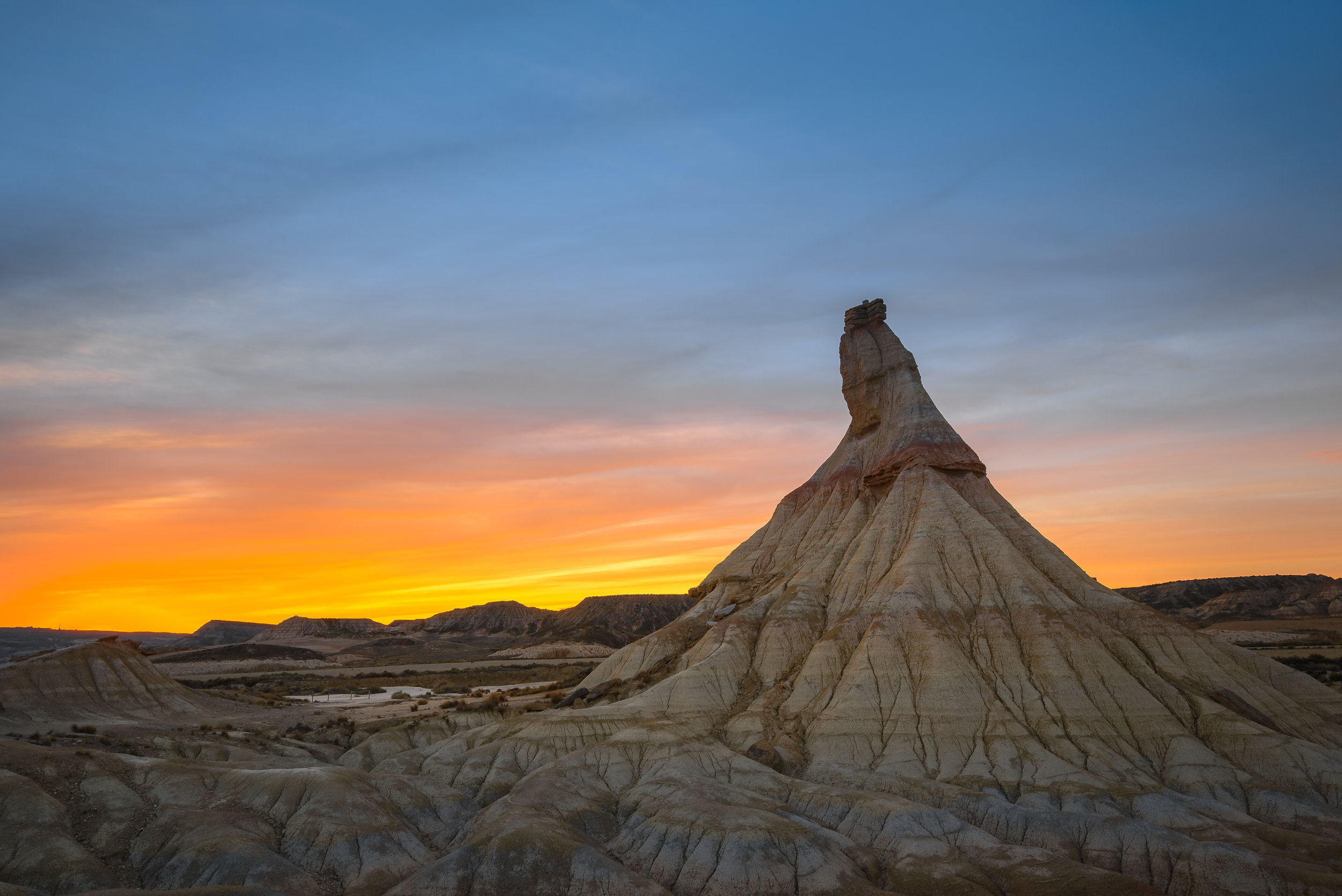 PICTURED:  Castildetierra rock at Bardenas Reales biosphere reserve, Navarre, Spain