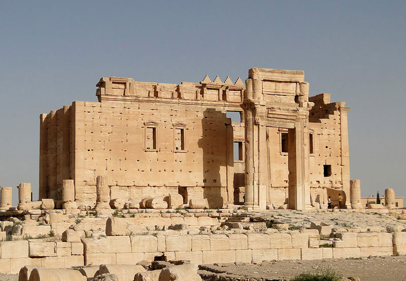PICTURED:  The Temple of Bel which the Islamic State has destroyed through explosives.
