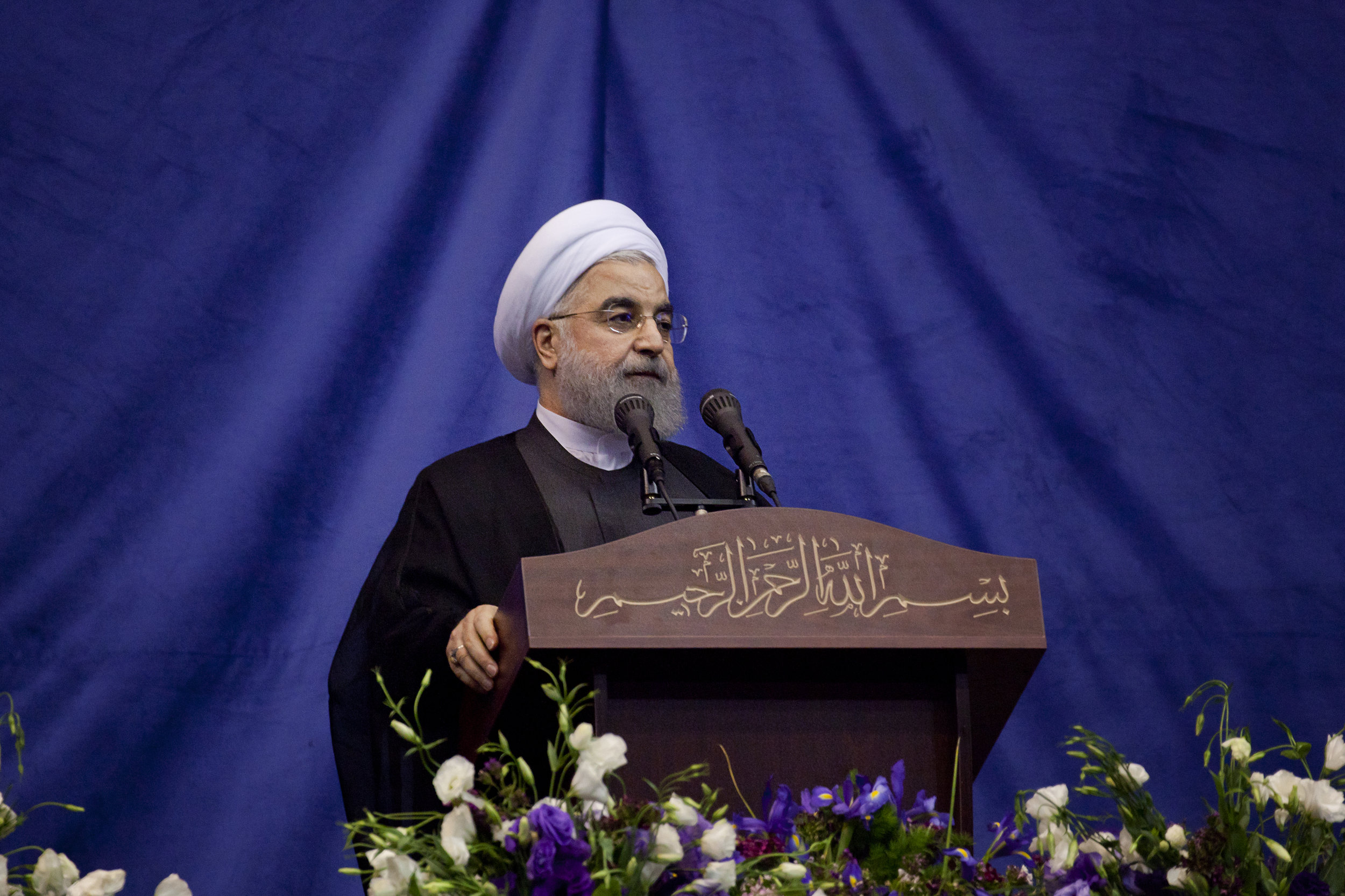 PICTURED:  Iranian President Hassan Rouhani, who has suggested a exchange deal could be reached between Britain and Iran's tankers.