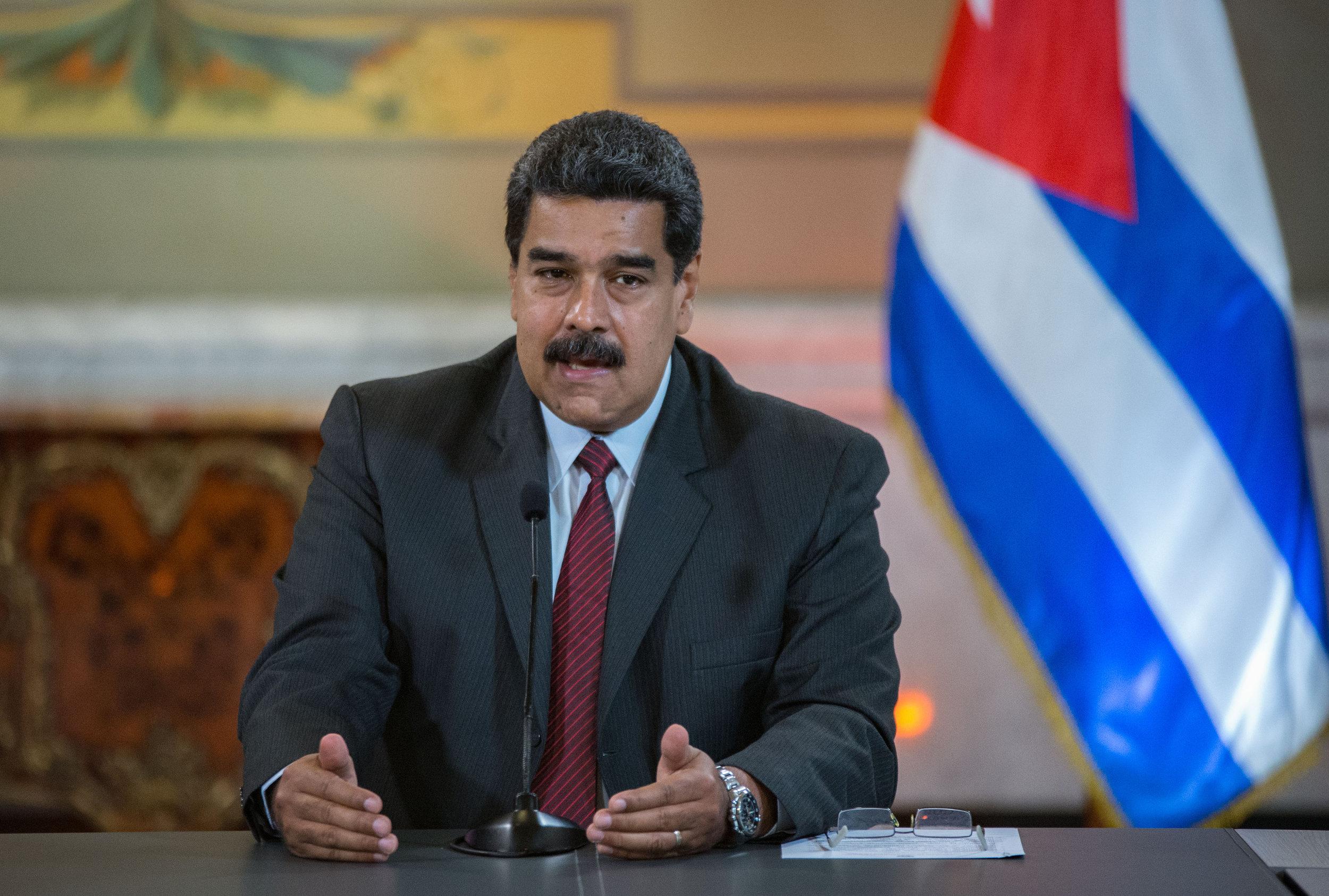 Pictured:  Venezuelan President Nicolas Maduro.