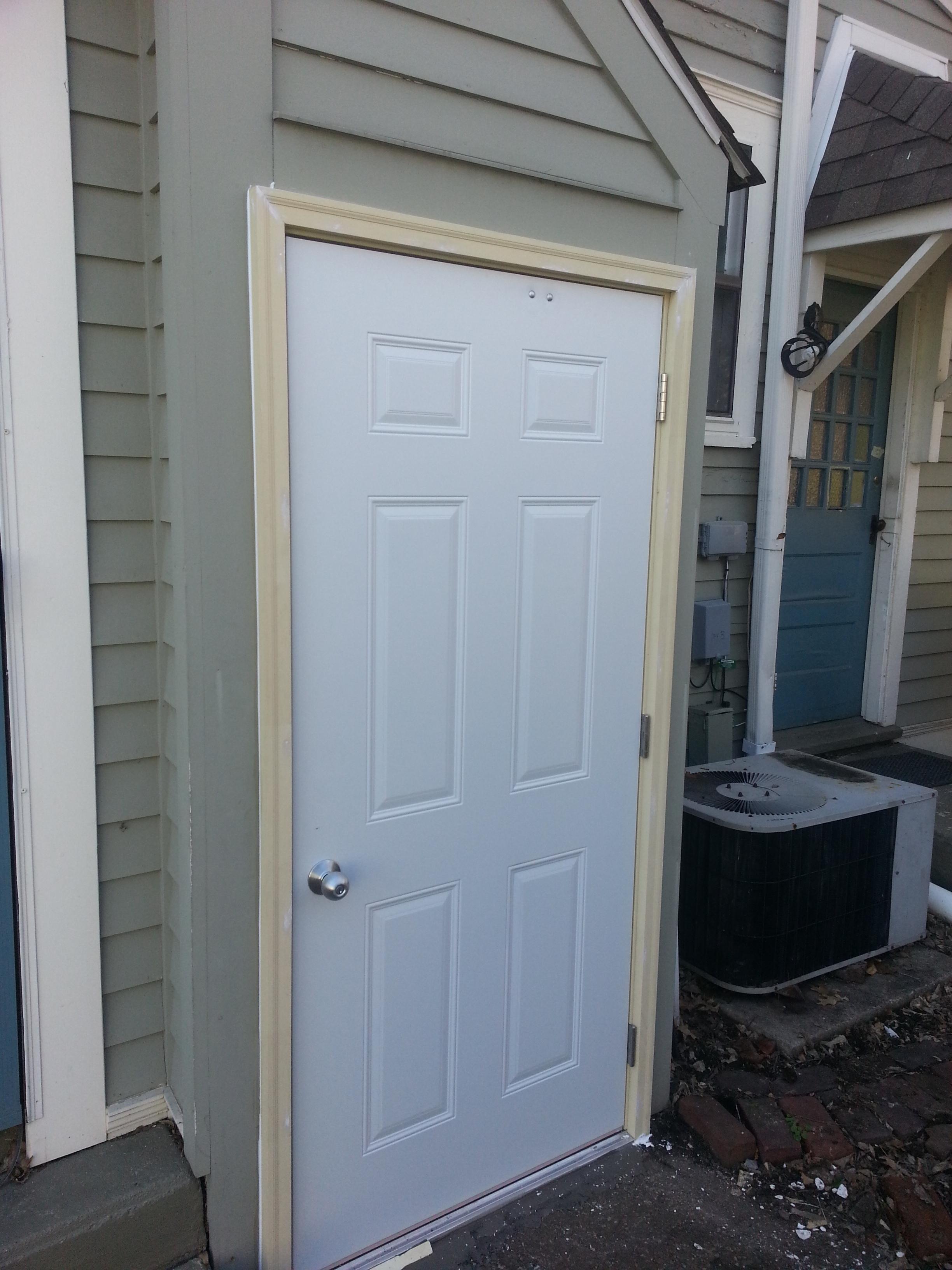 Exterior Door Installation After