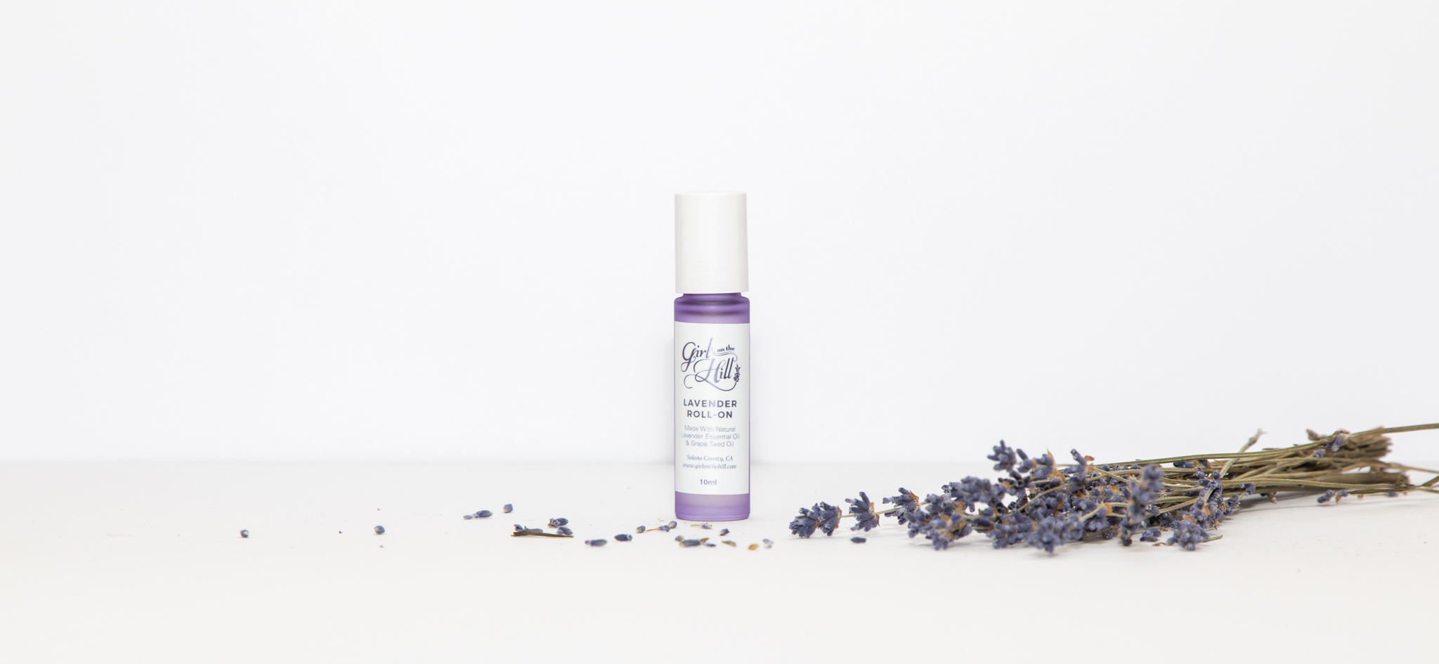 Aromatherapy Roll-on - The perfect way to relax on the go. Made with our natural lavender essential oil.