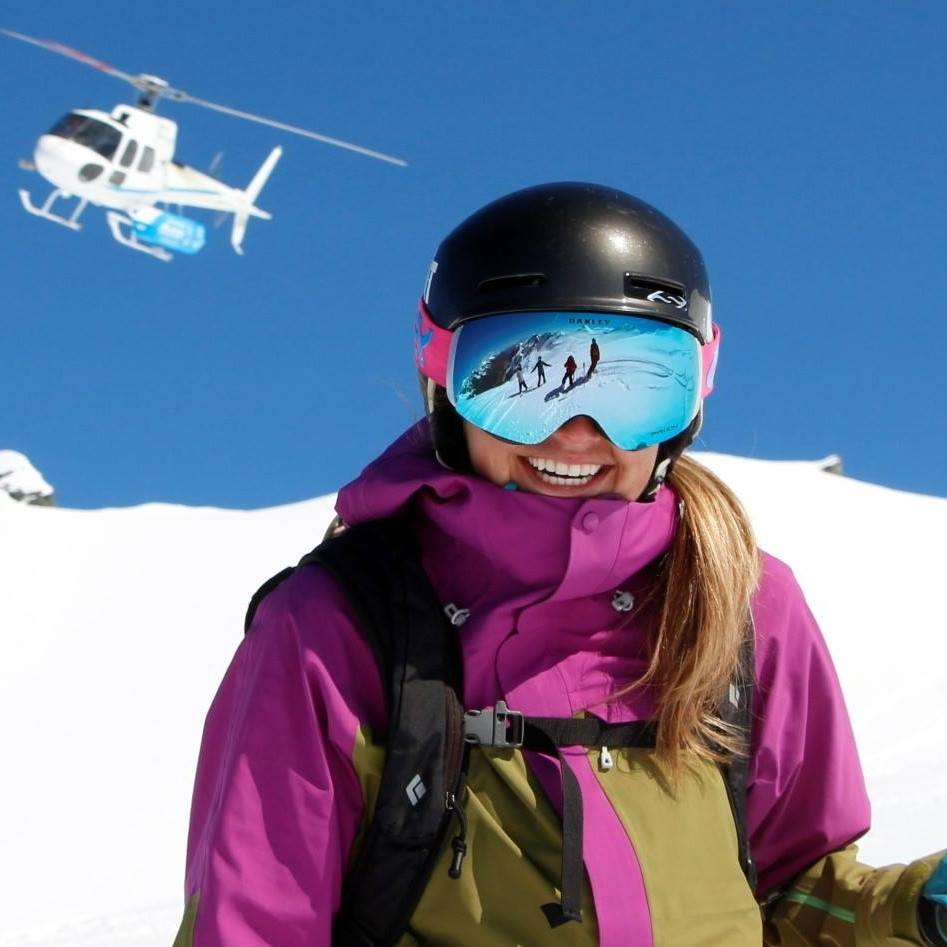 So much to smile about when you are surrounded by untouched snow and have a helicopter to access it!