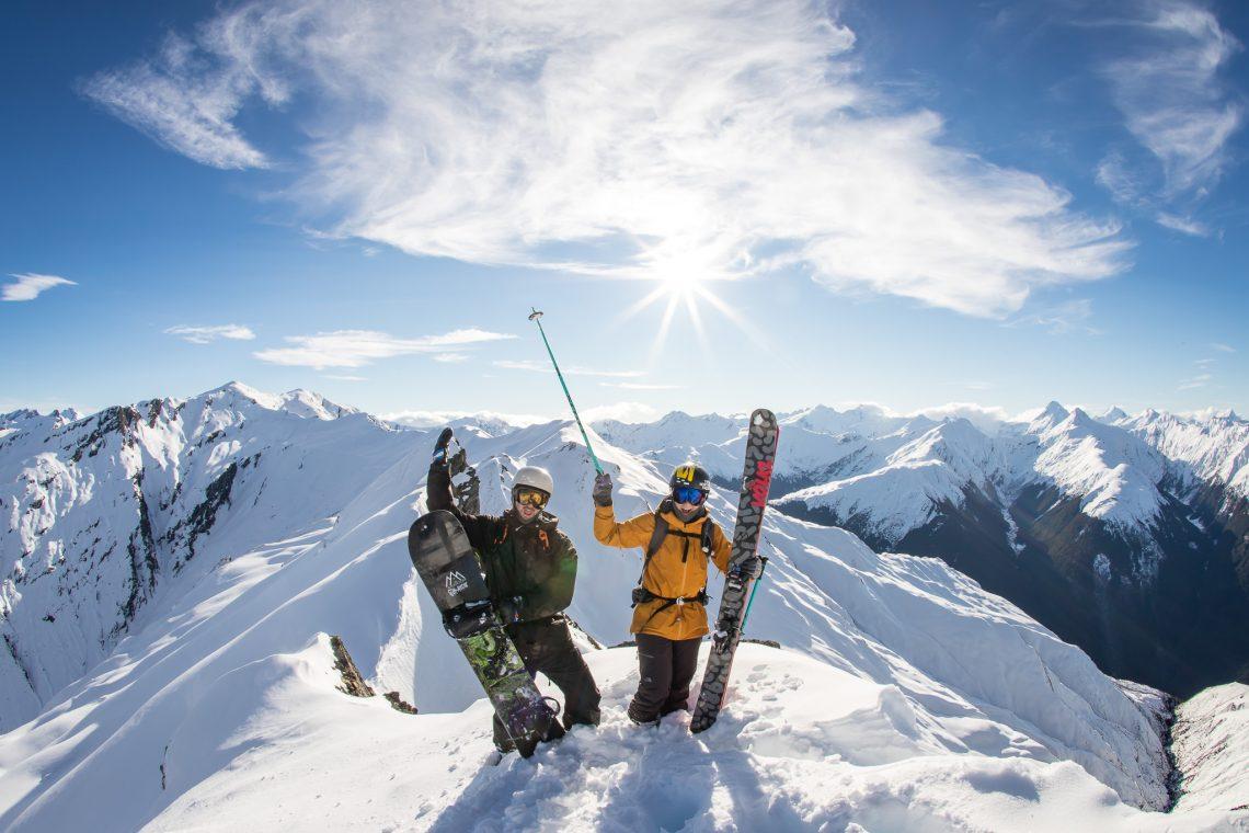 Janina Kuzma, an international big mountain, half pipe legend making friends and enjoying the backcountry of New Zealand.