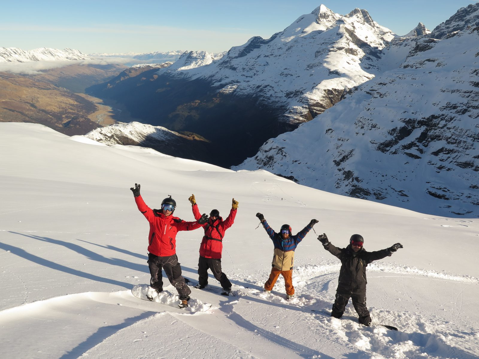 Heliskiing in the Southern Lakes is special, as you get the best views, amazing snow which makes for happy faces…