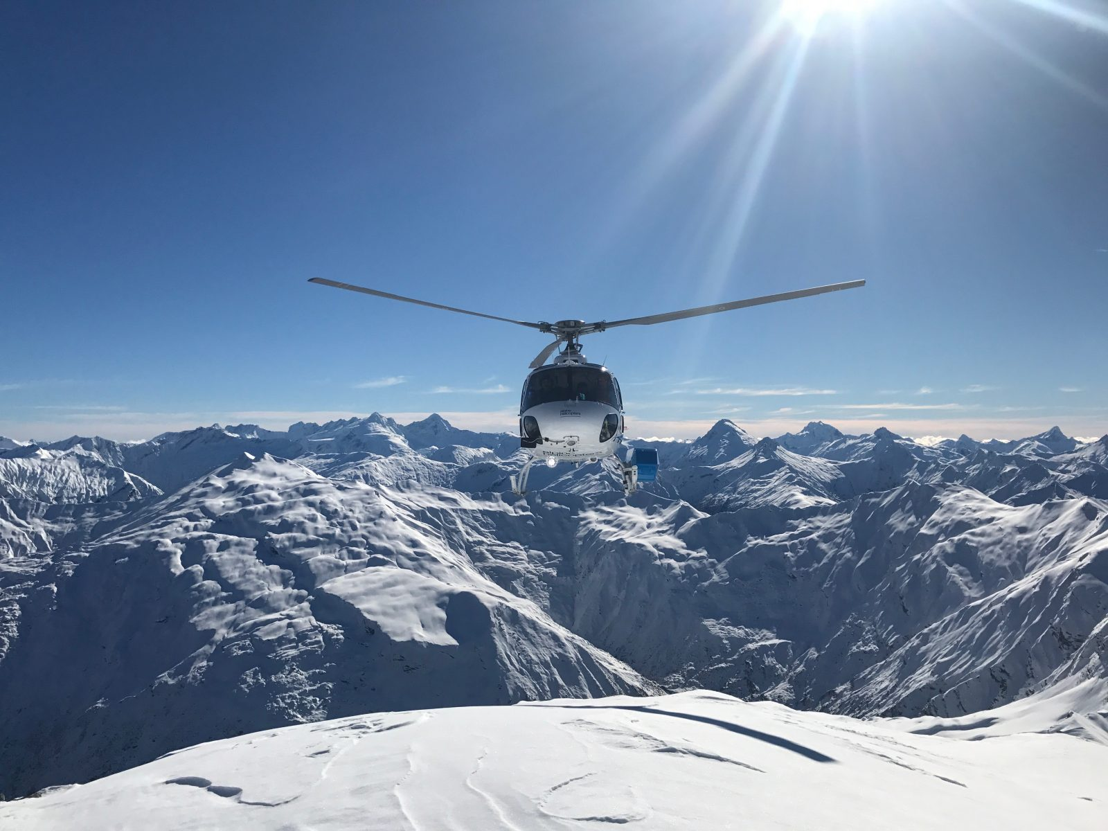 Calling in thehelicopter……take me to another peak please…